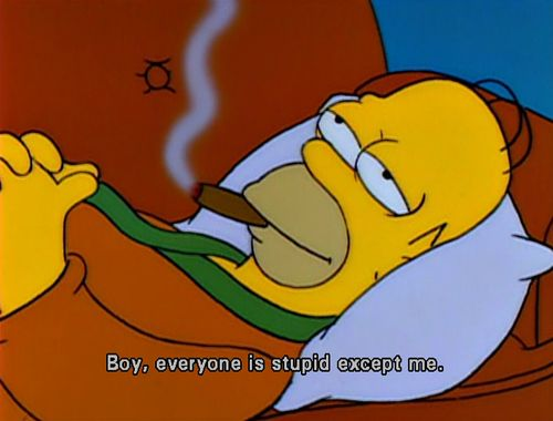 The Simpsons  Quote (About wise stupid smart)
