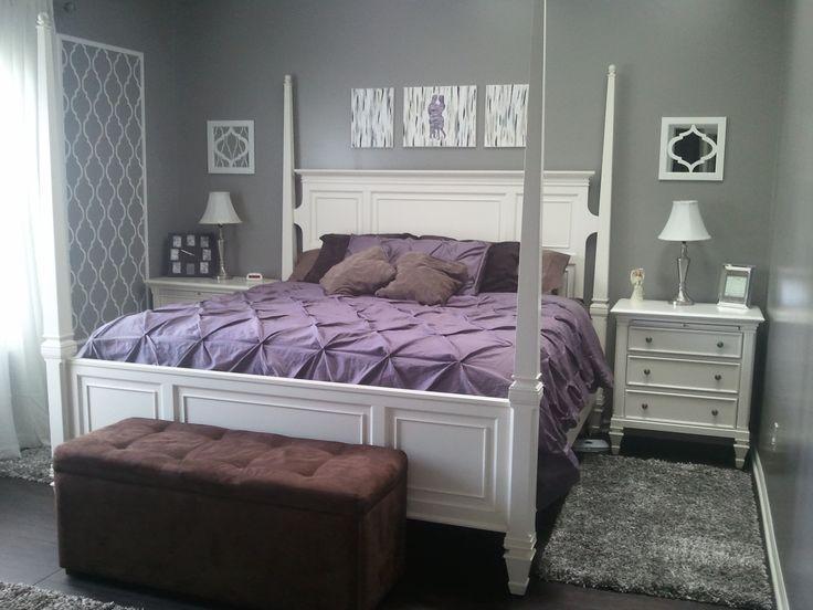 gray purple and brown bedroom romantic bedroom pinterest