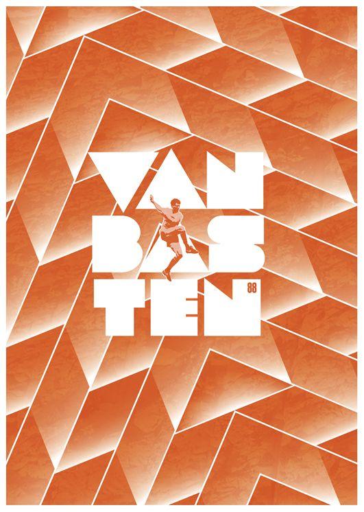 Marco Van Basten poster by Richard Debenham.
