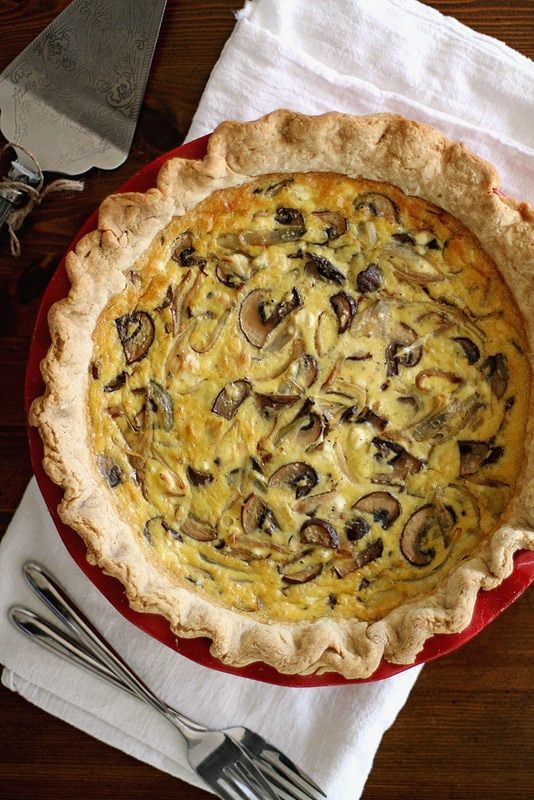 Do Your Soul Good With a Slice of Shallot and Mushroom Quiche