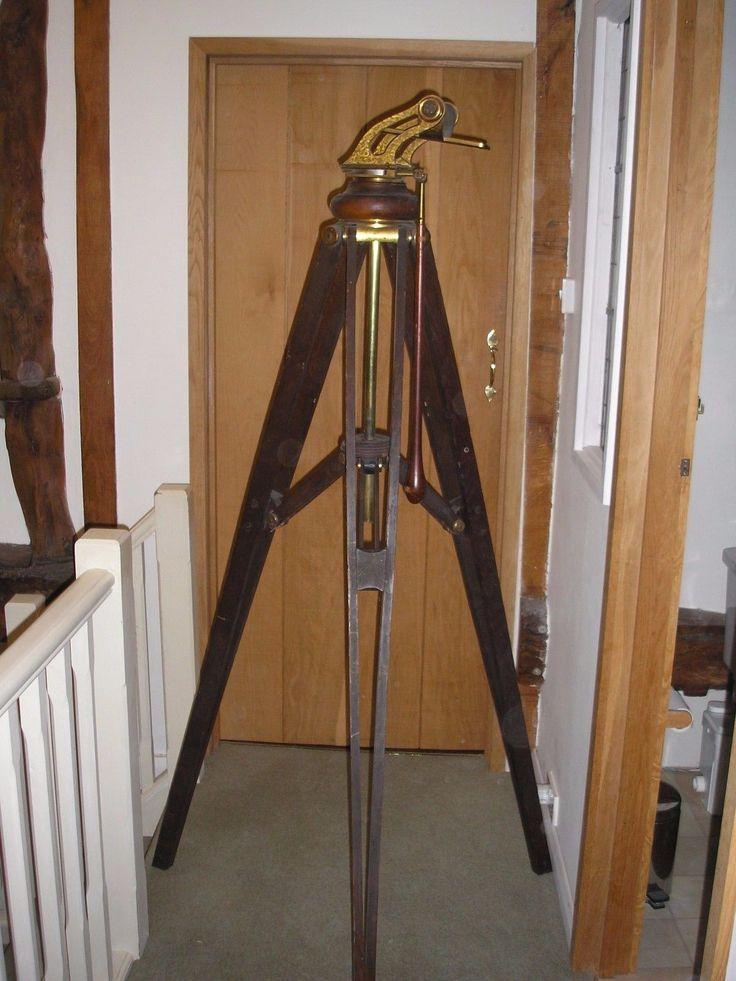 Signed J.Casartelli Manchester Boxed Refracting Telescope folding base + tripod | eBay
