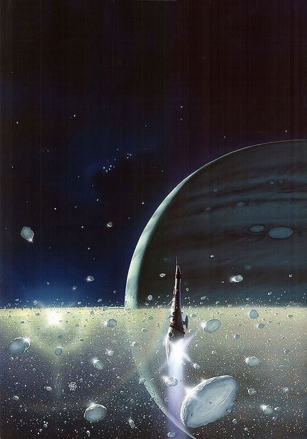 Peter Elson - The Rings of Saturn by myriac, via Flickr | Click through for a larger image
