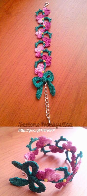 Braccialetto fiorito | Sezione Hobbystica Braccialetto fiorito | La bellezza del fatto a mano
