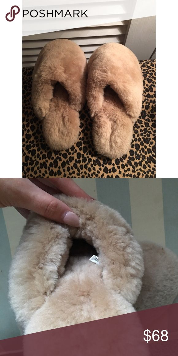 Pure sheep Sherpa wool baddie fluffy nude slippers Gorgeous little nude genuine Sherpa wool fluffy house slippers. Size 7 Women's! Perfect little stocking stuffer for that super sexy ig baddie woman in your life. ❄️☃☕️ Vintage Shoes Slippers