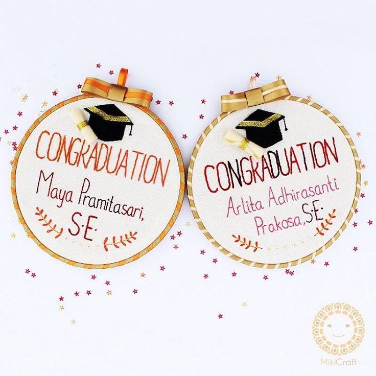 Congratulation for Graduation gift ~ hand embroidery hoop art