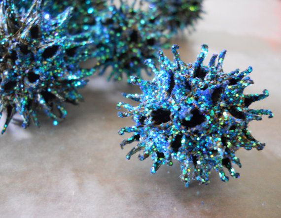 Sweet Gum Ball Glitter & Glass Holiday by DreamingRoseDesigns, $20.00