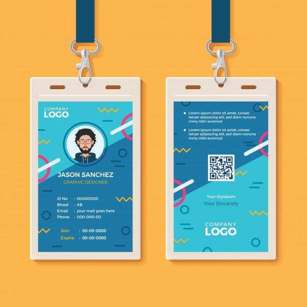 Modern Creative Id Card Template Id Card Template Employee Id Card Free Printable Business Cards
