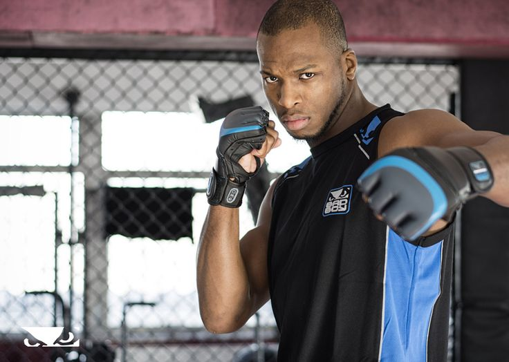 """Michael """"Venom"""" Page is always ready to strike. Grab the Pro Series MMA Gloves that he's wearing, for your next workout - Bad Boy - Bad Boy Athlete - Bellator 165"""