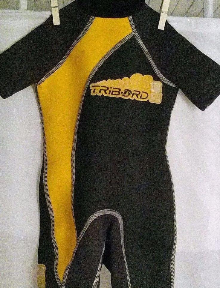 Toddler Wetsuit Decathlon Creation Tribord Shorts Size 4 Black Yellow #DecathlonCreation