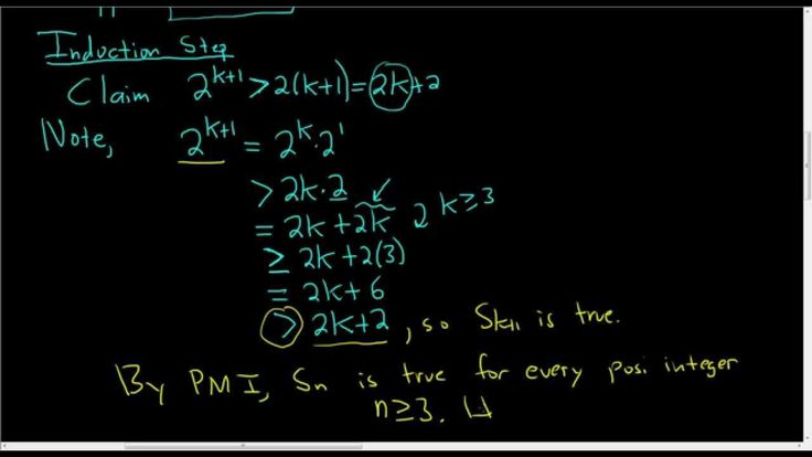 Principle of Mathematical Induction Inequality Proof Video
