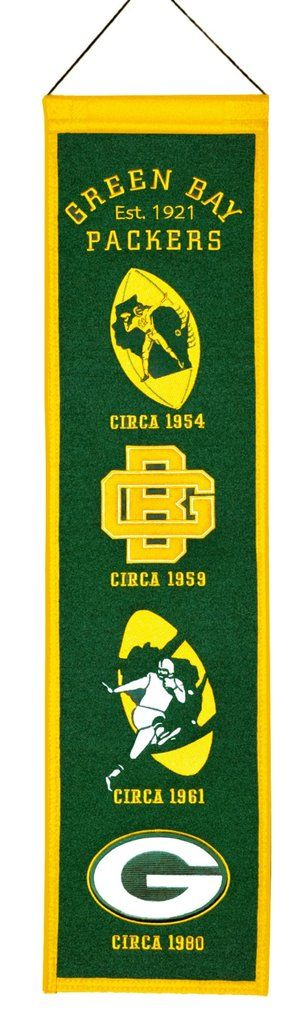 These uniquely shaped vertical banners chronicle the evolution of select logos or mascots through the years. Each logo is identified with a circa date connecting each to a specific time period. Each b