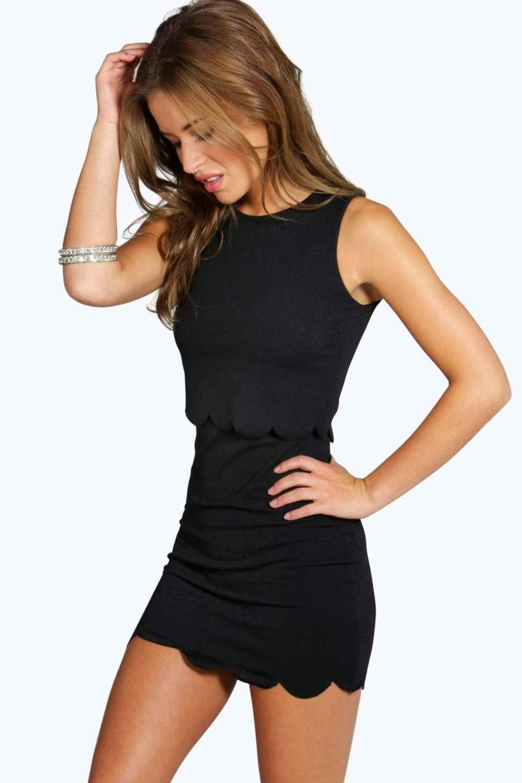 Sarah Scallop Double Layer Bodycon Dress