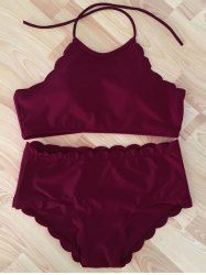 Alluring Solid Color Spaghetti Strap Bikini Set For Women (PINK,XL) | Sammydress.com Mobile