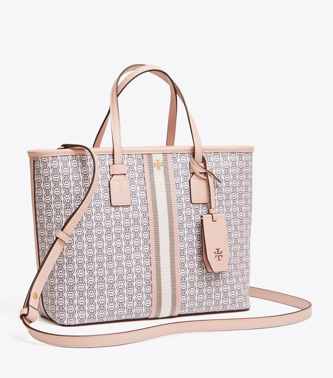 f59d7c7a6d20f2 Visit Tory Burch to shop for Gemini Link Canvas Small Tote and more Womens  View All. Find designer shoes