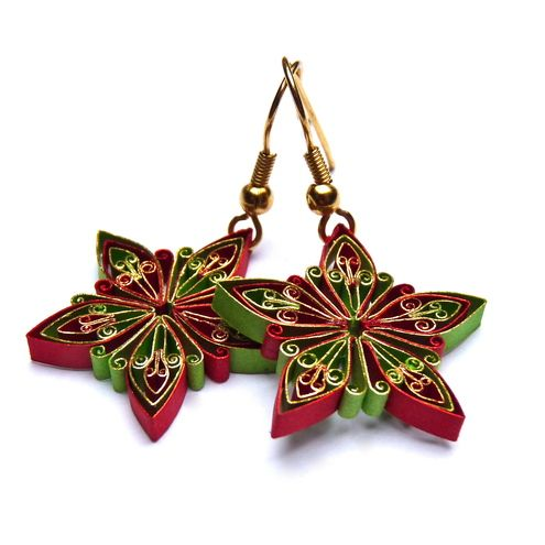 Christmas paper quilling ornaments - so Beautiful!