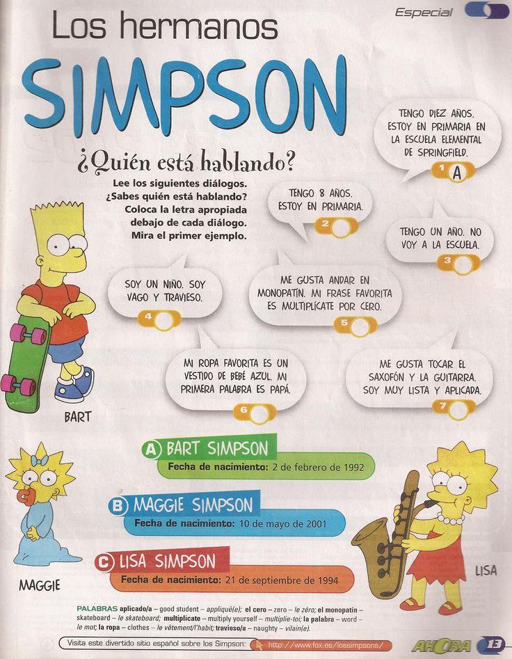 Los hermanos SIMPSON, descripciones, familia