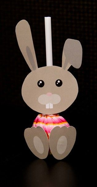 lollipop bunny craft