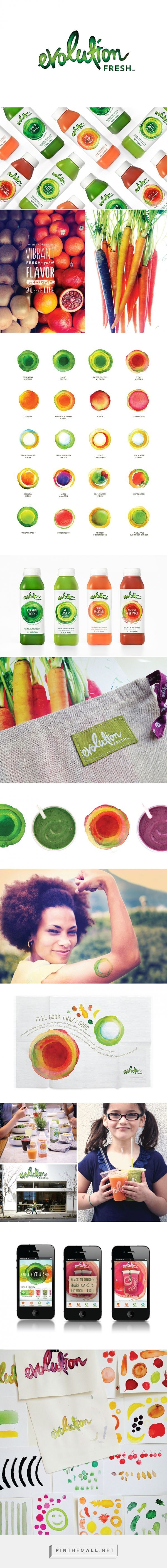 Evolution Fresh juice packaging design by Hornall Anderson (USA) - www.packagingofth...
