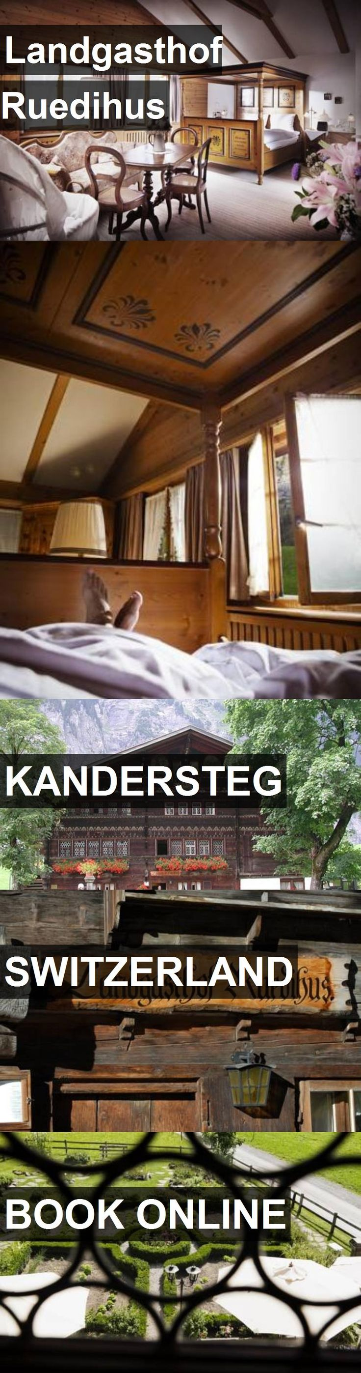 Hotel Landgasthof Ruedihus in Kandersteg, Switzerland. For more information, photos, reviews and best prices please follow the link. #Switzerland #Kandersteg #travel #vacation #hotel