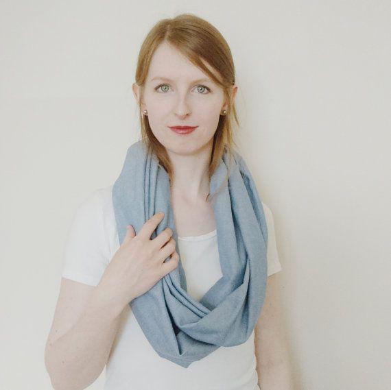 The Lakeshore // Infinity scarf lightweight by WhitebirchHandcraft