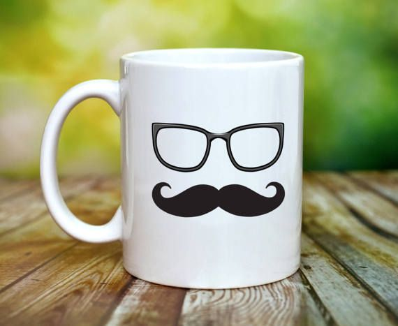 Mr Mustache  Just Married Wedding Gift by ShopHappyCrafts on Etsy