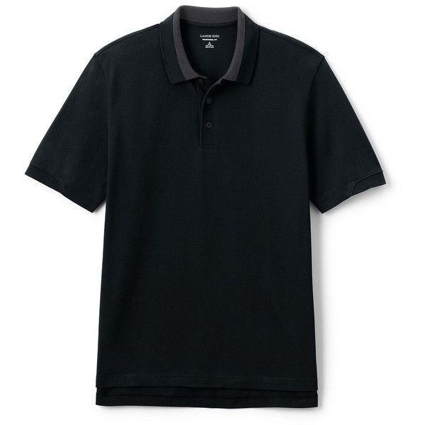 Lands' End Men's Big Contrast Tipped Mesh Polo ($35) ❤ liked on Polyvore featuring men's fashion, men's clothing, men's shirts, men's polos, black, lands end mens shirts, mens polo shirts, mens mesh shirt, mens long sleeve shirts and mens long sleeve polo shirts