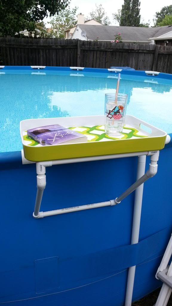 17 best images about cool pool accessories on pinterest for Above ground pool storage ideas