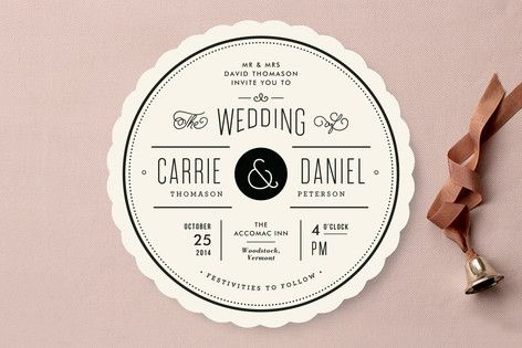 Vintage Ampersand Wedding Invitations by Jennifer Wick at minted.com