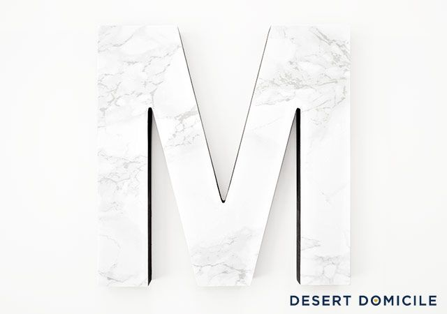 Easy And Fast DIY Marble Letter Decor - Shelterness