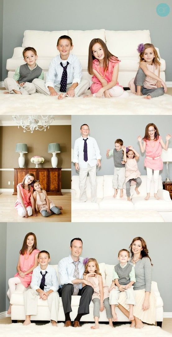 What to Wear in Family Pictures by Color starts with just picking colors that make you happy or match your decor or something you haven't done before.