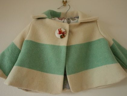 Piccalilli - Girls Winter Wool Coat from iconic Kiwi blanket age 1-2