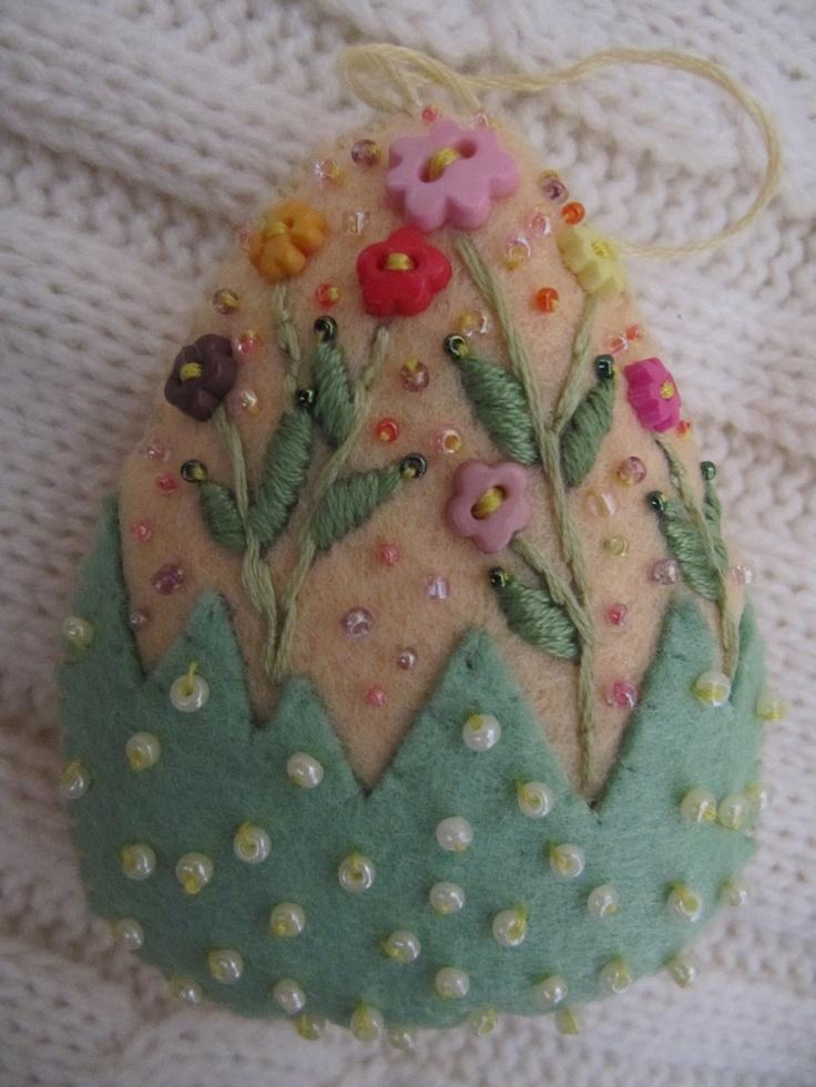 felt Easter egg ornament