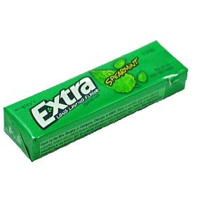 Wrigleys Extra Spearmint Sugar Free Gum (6 stick)-Chewing gum that is sugar free.  Naturally and artificially flavored.  #candy #gum
