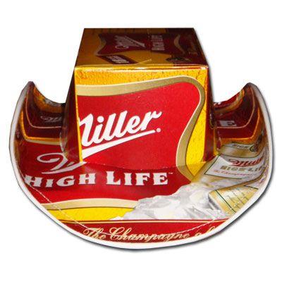 Miller High Life Beer Hats Cowboy - FREE SHIPPING $29.95 http://megabeerpong.com/beer-box-hats