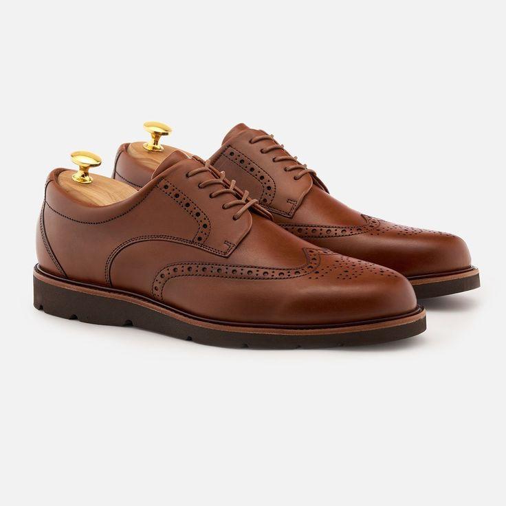 Lewis Wingtip - Calfskin Leather - Tan