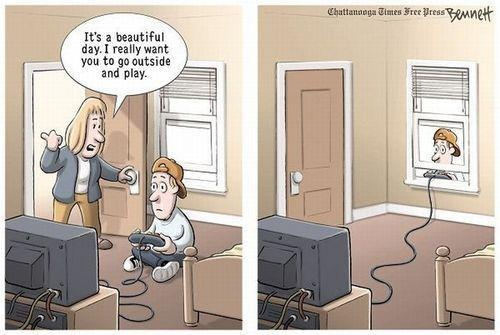 Serious Gaming (Addiction) #cartoon #comicstrip