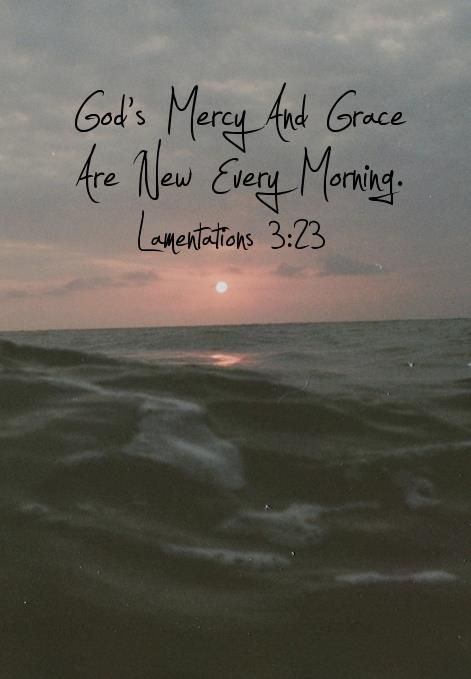 They are new every morning; great is thy faithfulness~ Lamentations 3:23