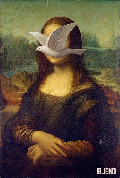 Leonardo da #Vinci & Rene #Magritte  La Gioconda - Man in a bowler hat. #art #paintings #blend