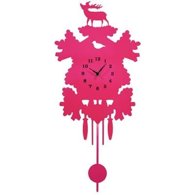 Wall Clock Modern Cuckoo - Pink...but I'd like white