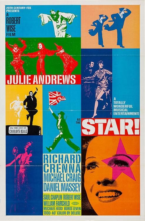 1968 roadshow poster for STAR! (Robert Wise, USA, 1968)    Designer: uncredited