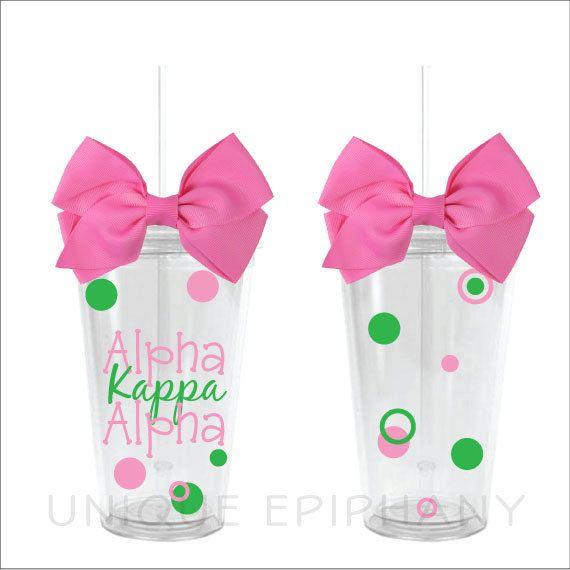 Alpha Kappa Alpha Tumbler. $13.00, via Etsy.
