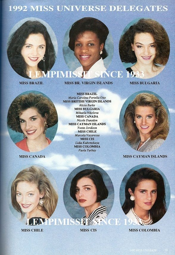 MISS UNIVERSE 1992 SPECIAL
