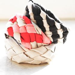 Tutorial on how to up cycle you're old shirts into cute unique bracelets. #craftgawker