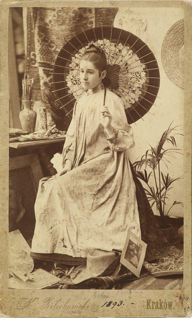 Olga Boznańska z japońską parasolką, 1839, MNK