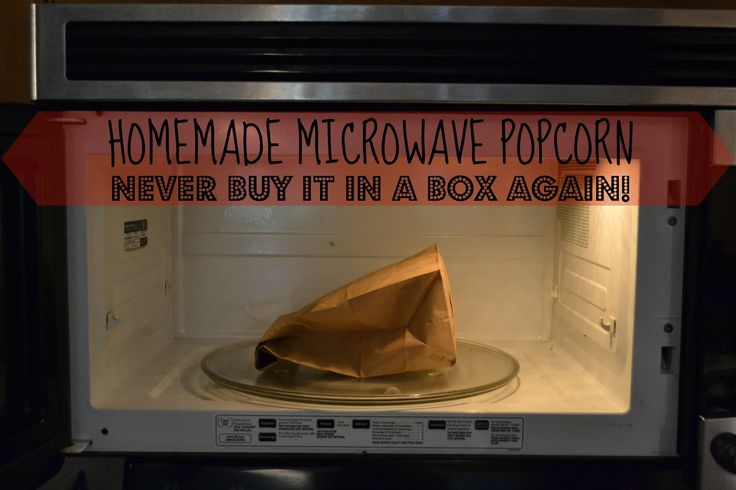 Healthy Homemade Microwave Popcorn.  So easy and much cheaper and healthier :-)