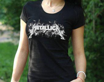 Camiseta de Metallica James Hetfield camiseta camiseta de Metallica camiseta mujer camiseta Rock Tee Rock Heavy Metal camiseta James Hetfield Metallica t