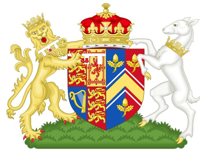 Kate's new Coat of Arms ~ The Middleton family worked closely with the College of Arms throughout the design process to create a personal and identifiable Coat of Arms. The three acorns represent Kate, Pippa and James. Acorns were chosen because Berkshire is surrounded by Oak trees and the oak is a long-established symbol of England and strength. The other half is derived from the Duke of Cambridge's Coat of Arms.