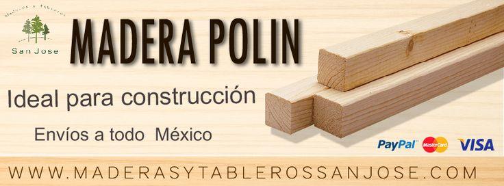 #MADERA #POLIN,  Ideal para la Construcción.    Además:   *SIERRA CINTA BIMETALICA, resistentes e ideales para cortar clavos y grapas. *SIERRA *CINTA AL CARBON, de uso general, ideal para cortar madera.  *SIERRA CINTA PUNTA DE ACERO, para uso general.    Servicio a Domicilio a todo México.    *Aceptamos formas de pago vía Pay Pal y tarjeta MasterCard y Visa.  Para más información visita nuestra página