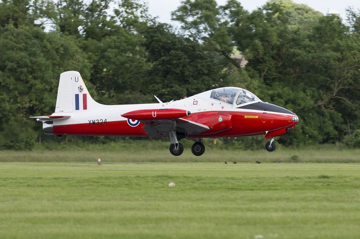 https://flic.kr/p/pHrByd | Jet Provost XW324 | XW324 was built at Warton, as the 38th Jet Provost T.5 for the Royal Air Force. It was accepted by the RAF in early 1970 and went into service with No.3FTS at RAF Leeming. Coded '38' the aircraft was used for basic pilot training, and also was used by the School's aerobatics team 'Gemini Pair' during 1973.   The aircraft was not selected for upgrade to T.5A status during 1975, and instead it was transferred onto the strength of 6FTS at RAF…