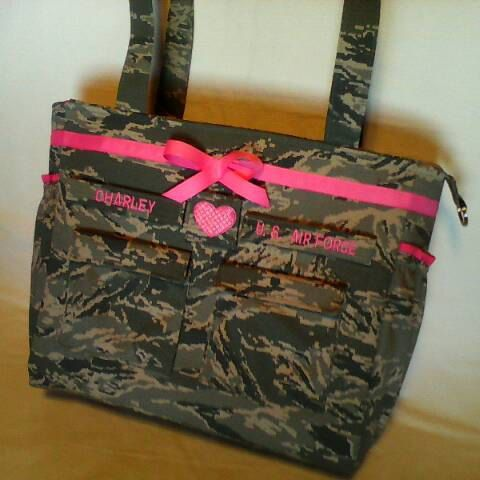 Air Force diaper bag camo diaper bag custom made for you choice of colors trims words best military diaper bag air force diaper bag camo by bythebayoriginals on Etsy
